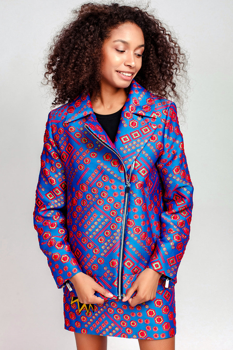 Jacquard Zip Jacket