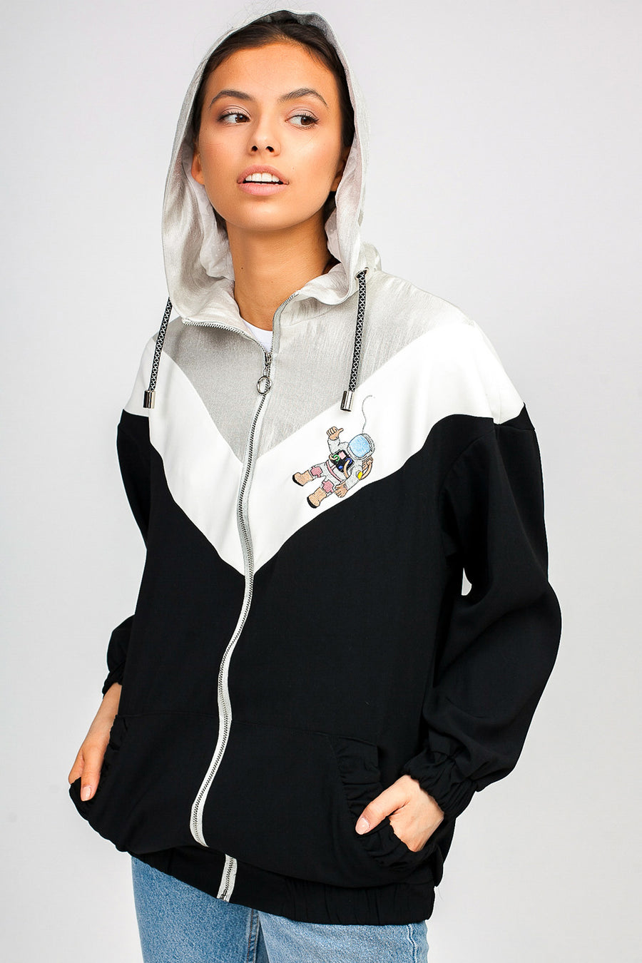 Spaceman Hooded Zip Bomber
