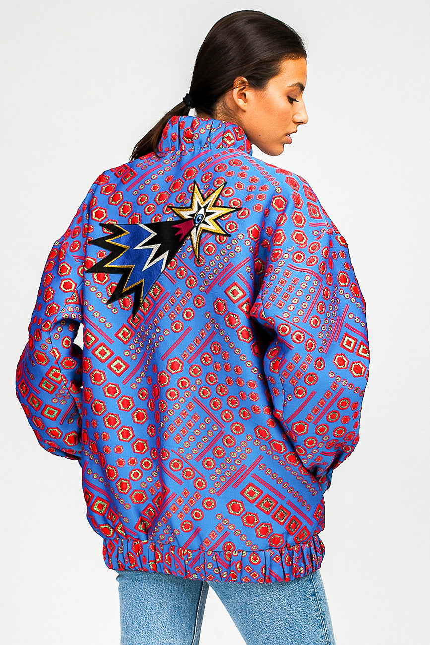 Comet Space Jacquard Bomber