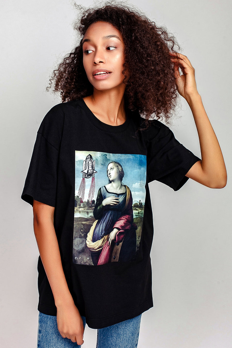 Saint Catherine & Rocket Oversized T-Shirt