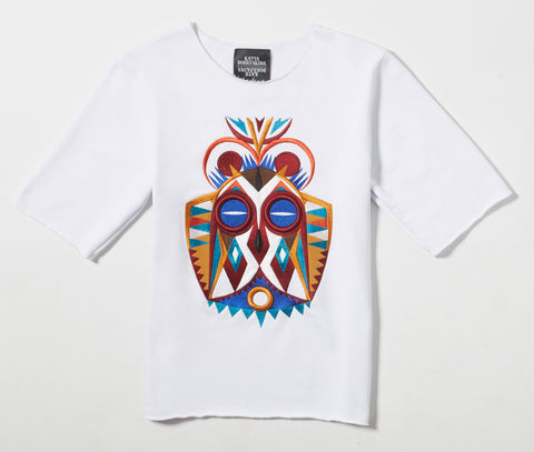 Owl Mask Short Sleeves Sweatshirt