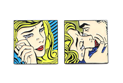 Roy Lichtenstein style 50s pop art designs