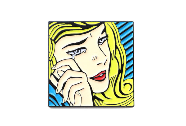 Roy Lichtenstein blonde girl crying pop art