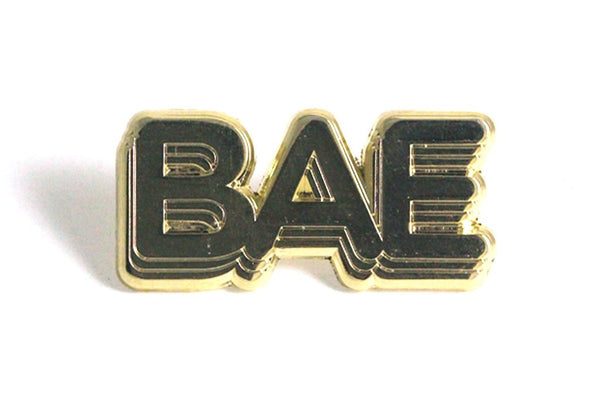 BAE lapel pin gold