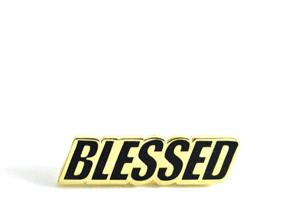 Blessed enamel pin