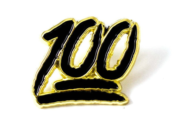 Hundred Pin black and gold