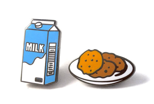 milk and cookies pins