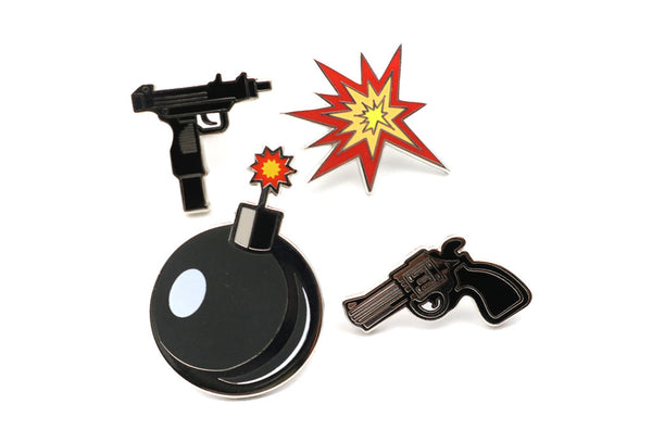 weapon emoji pins