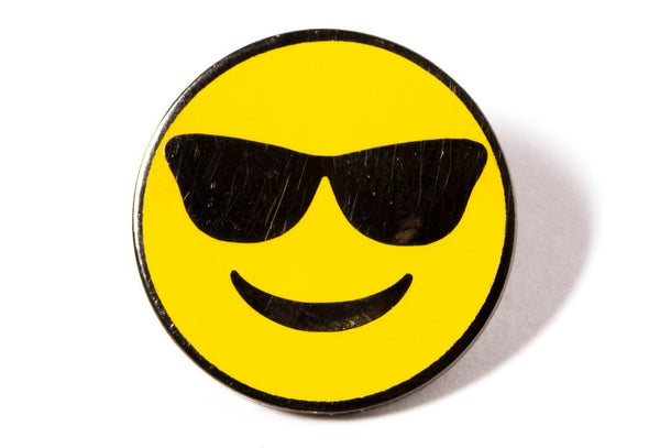 Smiley with Sunglasses emoji pin