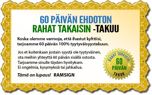 60 päivän rahat takaisin takuu