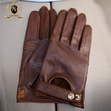Privately Customized Series Individual Craft Italian Imported Lambskin Driving Gloves for Men's LocomotivesM-44.1