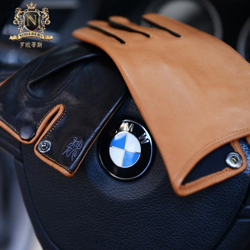 Privately Customized Series Trendy Italian Imported Lambskin Men's Simple Wind Dermal GlovesM-70.1