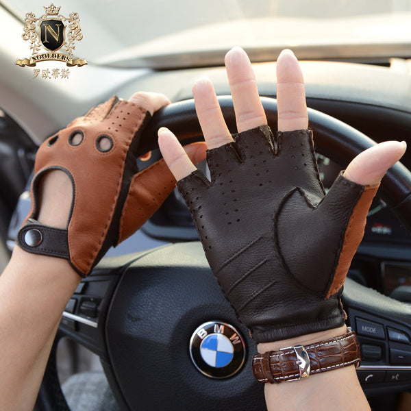 CLassic men's fingerless deerskin driving leather gloves M-51