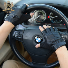 Men's Sports Locomotive Gloves Outdoor Riding Leather Gloves Motorcycle Gloves Half-fingered Leather Gloves MenM-53