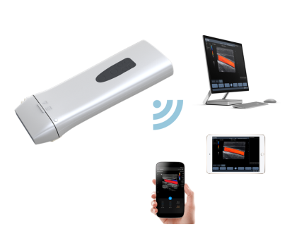 Color Wifi Wireless Ultrasound Scanner With Changeable Probe Heads Linear, Convex, Vaginal, Micro Convex
