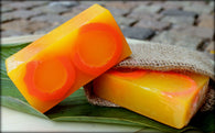 KAN'S NATURAL HANDMADE SOAP WITH ORANGE CITRUS (ALL SKIN TYPES) - 100GMS