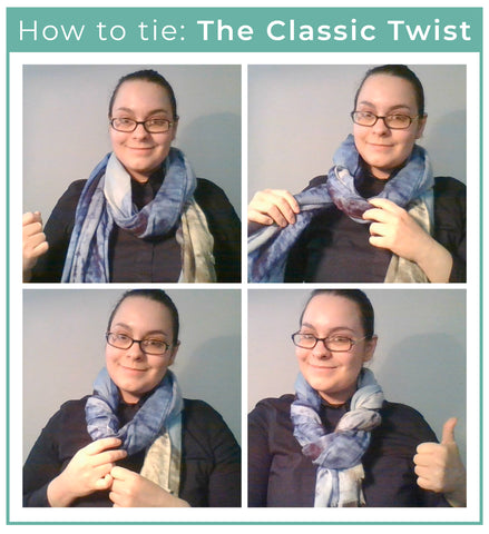 How to tie your scarf: The Classic Twist