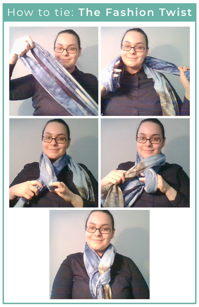 How to tie your scarf: The Fashion Twist