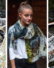Ice Wool and Silk Scarf