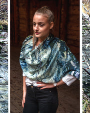 River Wool and Silk Scarf