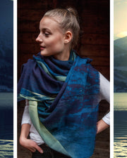 Lakeview Wool and Silk Scarf