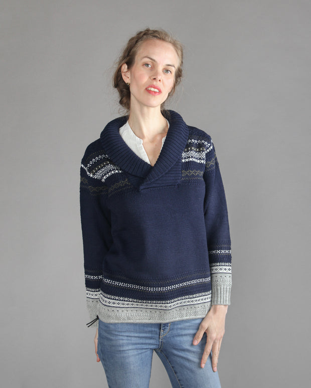 Glesver Women's V-Neck Collared Sweater