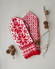 Christmas mittens knitting pattern