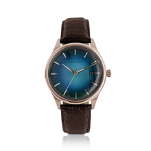 Prestige Ocean Blue Automatic Rose Gold