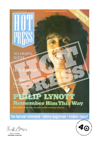 Volume 15  Issue 03 Phil Lynott Commemorative Print
