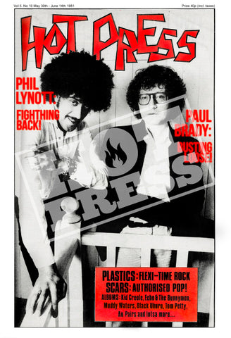 Volume 05 Issue 10 Philip Lynott  & Paul Brady Commemorative Print