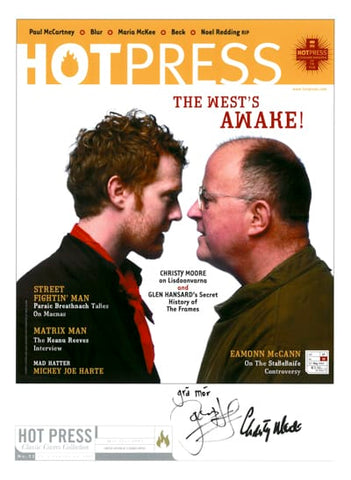 Christy Moore & Glen Hansard 27-10 Signed Cover