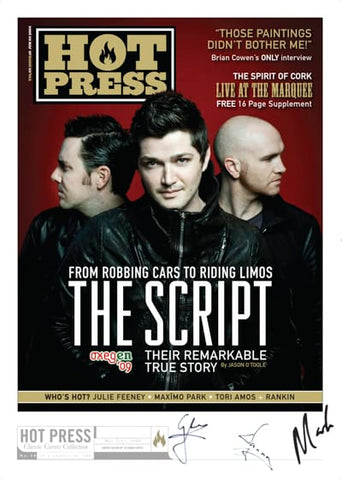 The Script (first cover, red background)_