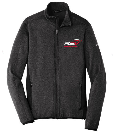 Eddie Bauer® Mens Full-Zip Heather Stretch Fleece Jacket