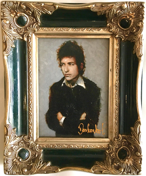 Bob Dylan in green frame