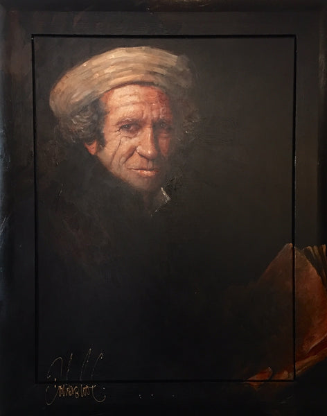 Keith Richards| Original Art by Peter Donkersloot painting