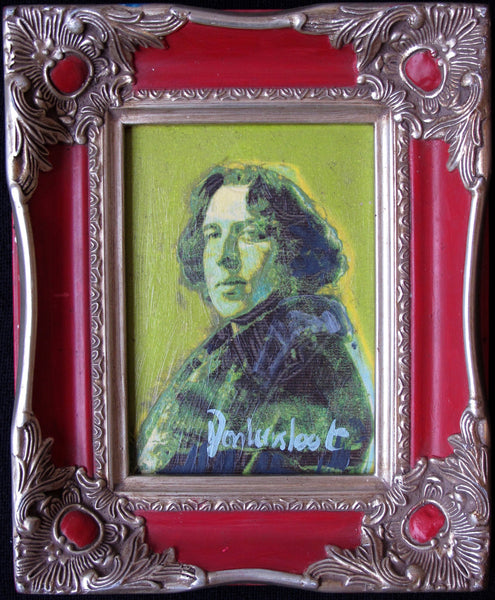 Oscar Wilde in red frame