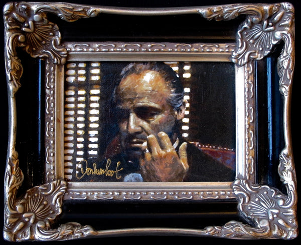 The Godfather in black baroque frame Peter Donkersloot
