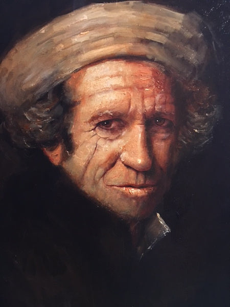 detail Keith Richards Rolling Stones painting Donkersloot