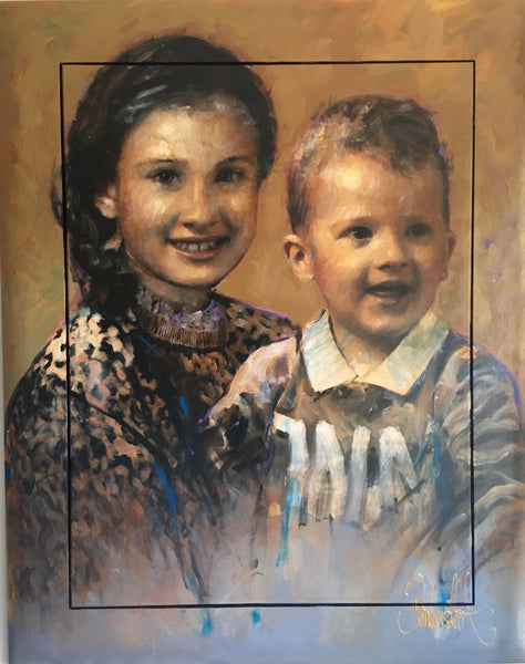 Portrait grandchildren 120 x 150 cm