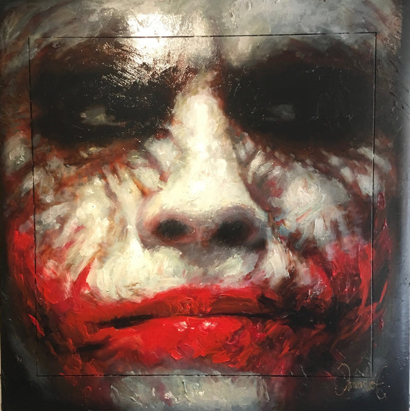 The Joker painting 160 x 160 cm Peter Donkersloot