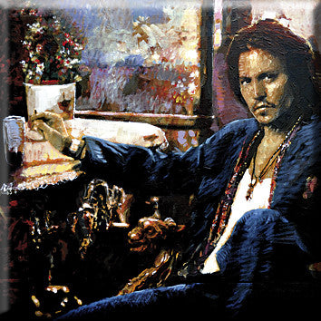 Johnny Depp painting Peter Donkersloot