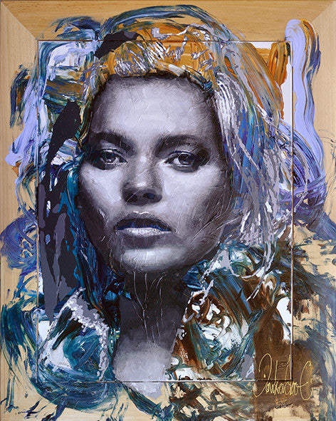 Kate Moss original painting by Peter Donkersloot | art
