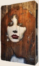painting on wooden pallet by Kate Bush | Peter Donkersloot