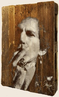 Keith Richards | Rolling Stones on an antique wooden pallet