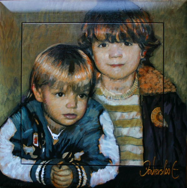 Children portrait commissioned brothers Donkersloot