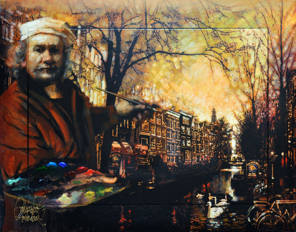 Rembrandt's Red Light schilderij Peter Donkersloot