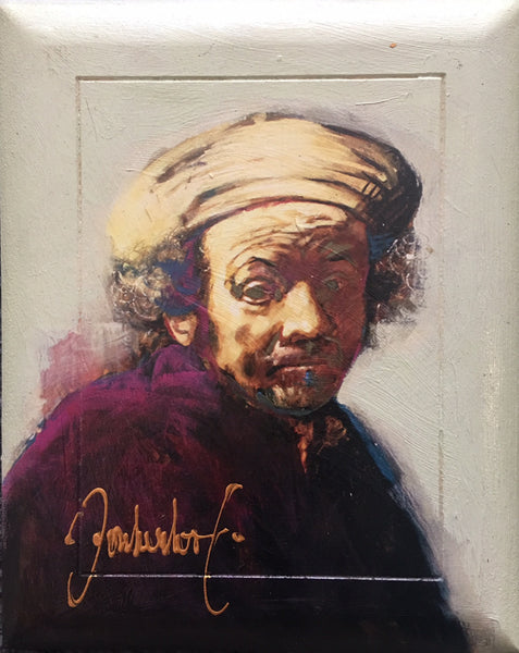 Rembrandt on wooden panel