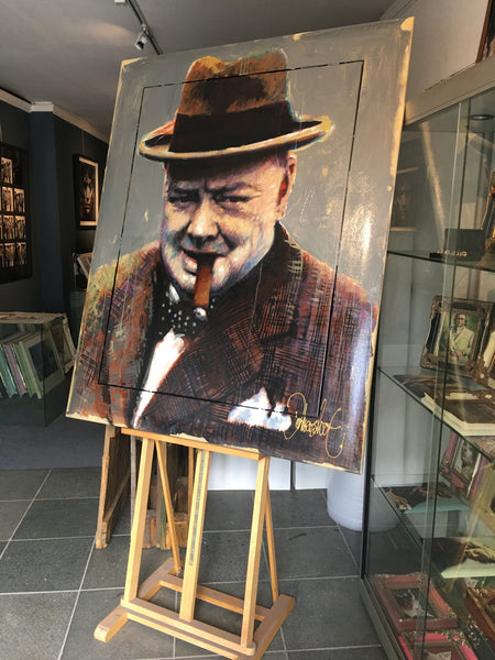 Winston Churchill Painting by Peter Donkersloot