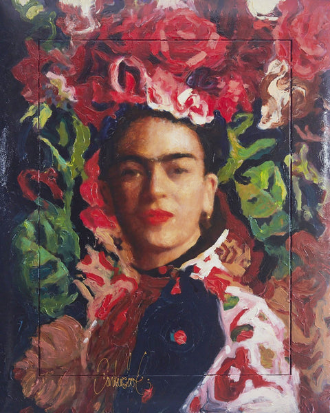 Frida Kahlo Original Painting by Peter Donkersloot