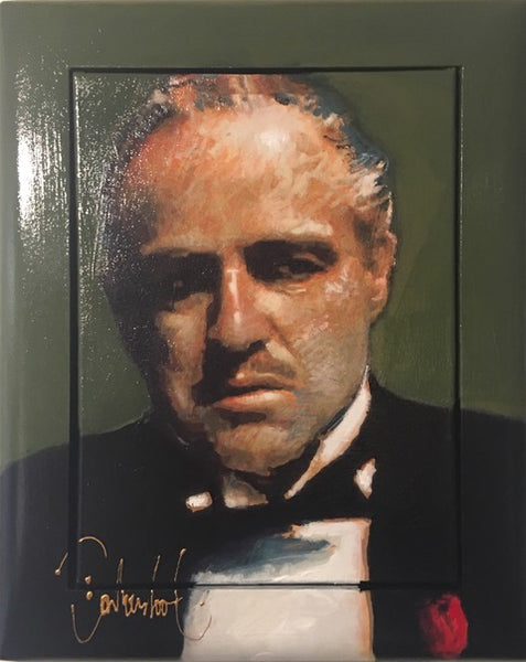 The Godfather groen | klein formaat 43 x 53 cm